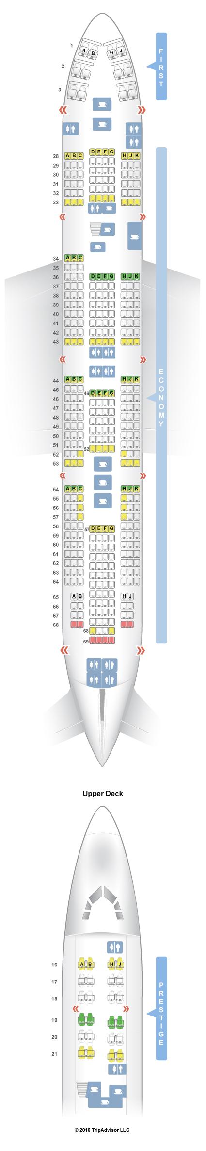 SeatGuru Seat Map Korean Air on