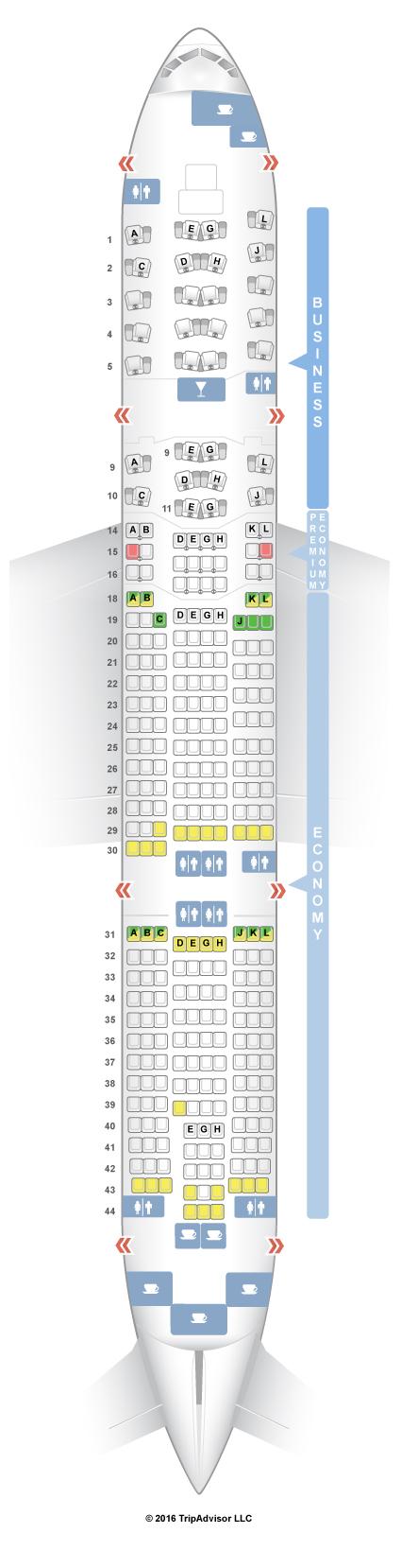 Boeing 777 200er American Airlines Seatguru Elcho Table