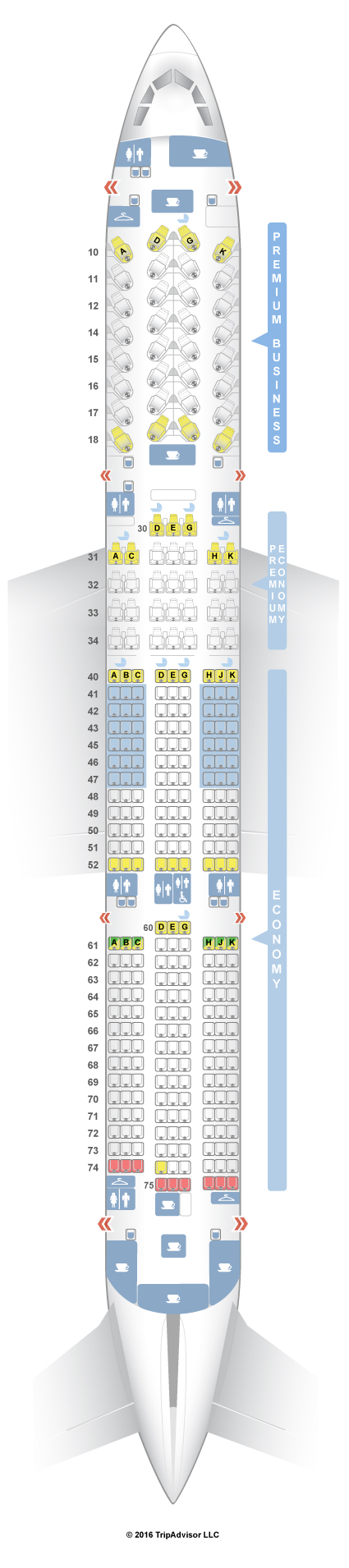 A350 Seat Map SeatGuru Seat Map China Airlines