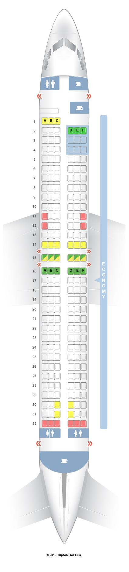 Tuifly X3 Sitzplan