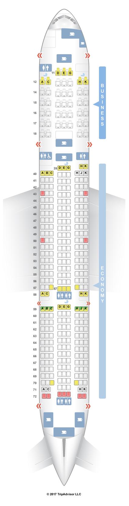 Cathay Pacific Boeing 777 300er Premium Economy Seating Plan ...