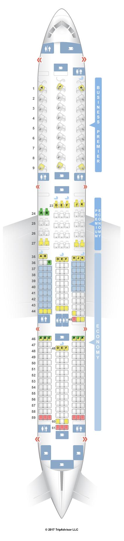 SeatGuru Seat Map Air New Zealand