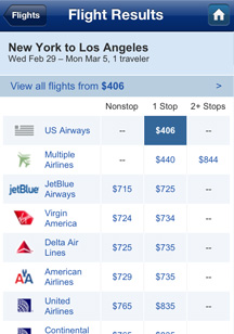 All the flight choices you want