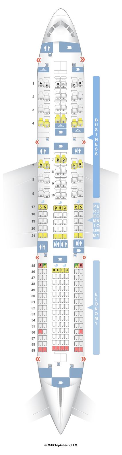 Seatguru Seat Map Japan Airlines Seatguru