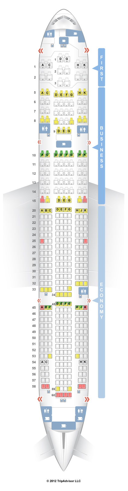 SeatGuru Seat Map Japan Airlines - SeatGuru