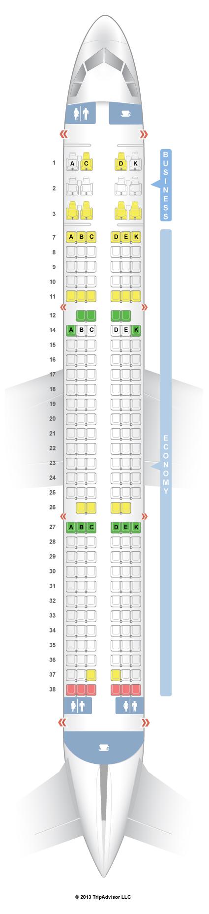 Seatguru Seat Map Taca