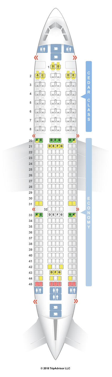 airbus a330 200 seat map Seatguru Seat Map Middle East Airlines Seatguru airbus a330 200 seat map