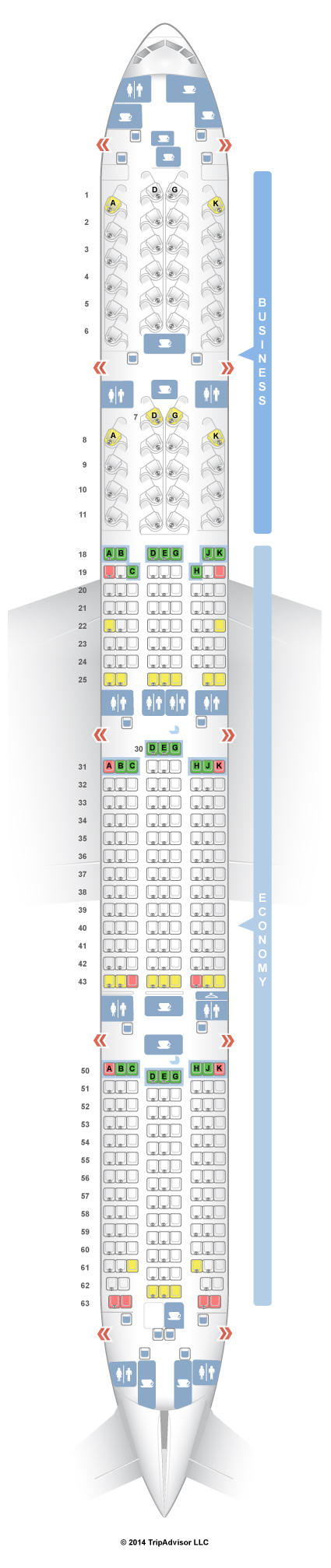 Air Canada Aircraft 77w Seat Map SeatGuru Seat Map Air Canada   SeatGuru