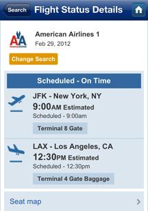 Flight status check