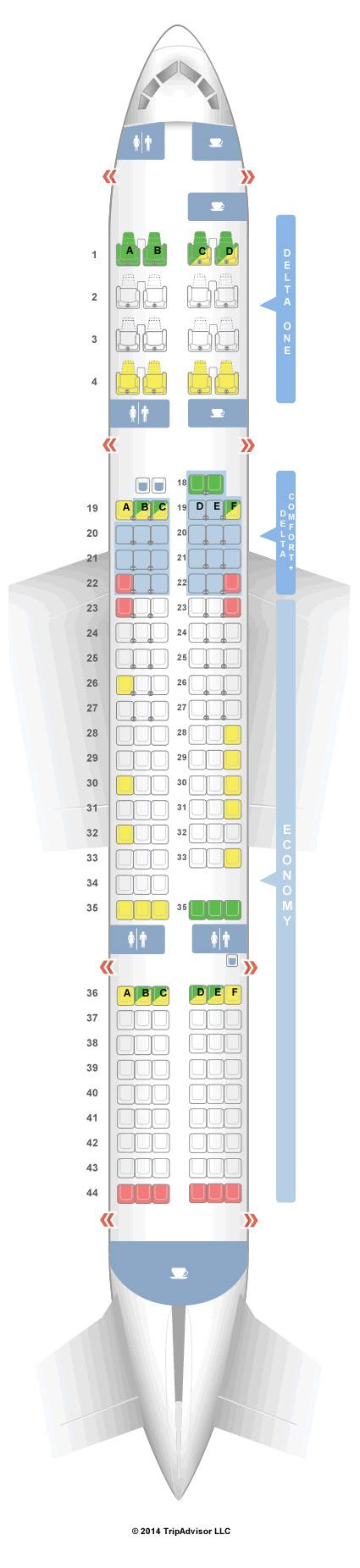757 200 Aircraft Seating Chart