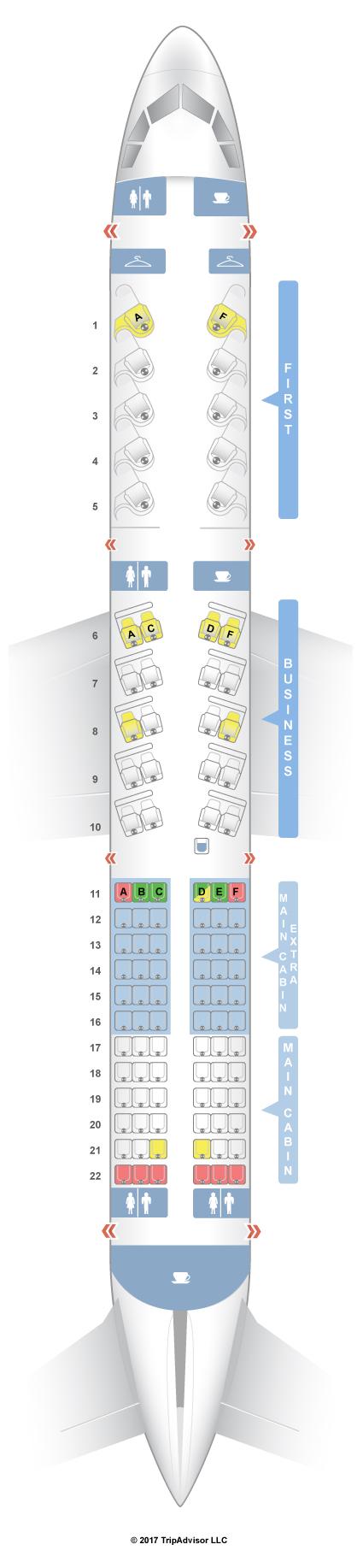 Seatguru Seat Map American Airlines Airbus A321 32b V1