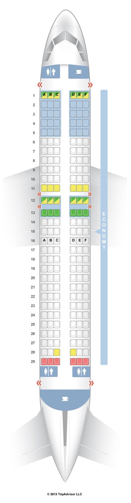 Seatguru Seat Map Volaris Airbus A320 320