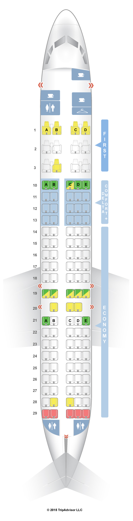 Delta airlines seating assignment