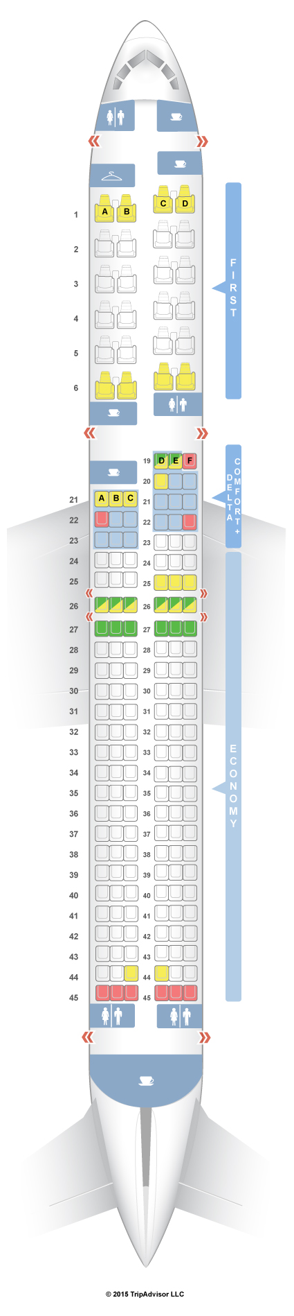 Delta seat assignment