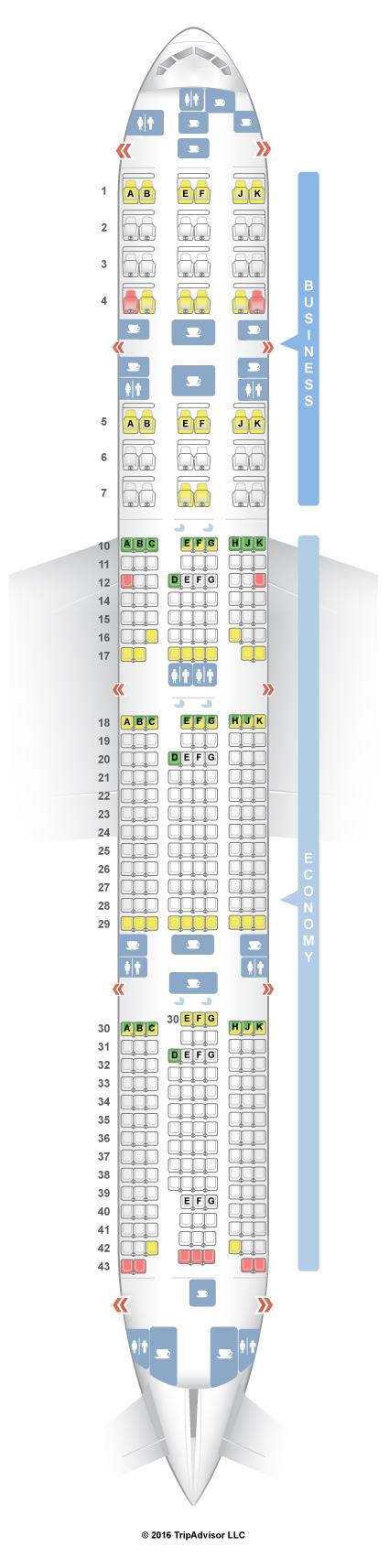 Seatguru seat map qatar airways boeing 777 300er 77w v1 for Plan cabine 777 300er
