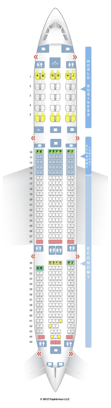 Seatguru Seat Map Klm Airbus A330 300 333