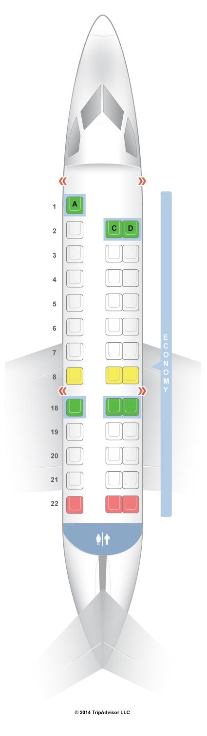 Seatguru Seat Map United Embraer Erj 135