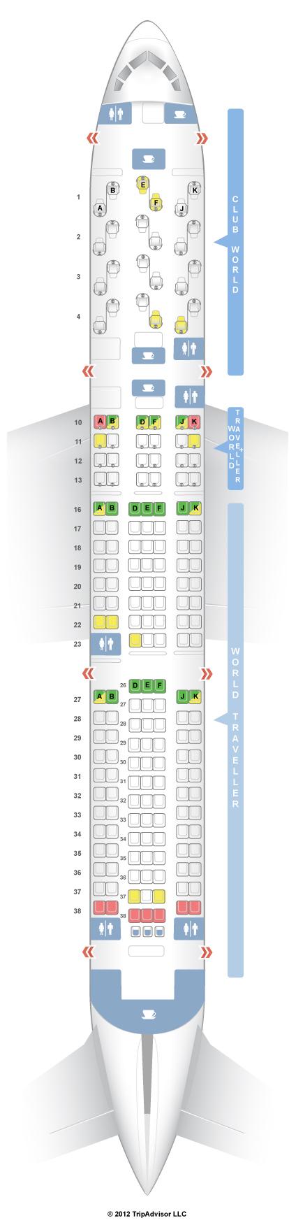 Seat Map Delta Airlines Boeing B767 400ER (76D) | SeatMaestro.com