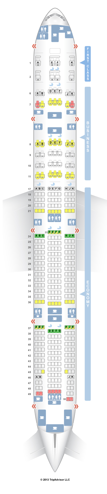Sitzplan seatguru a380 emirates Emirates A380