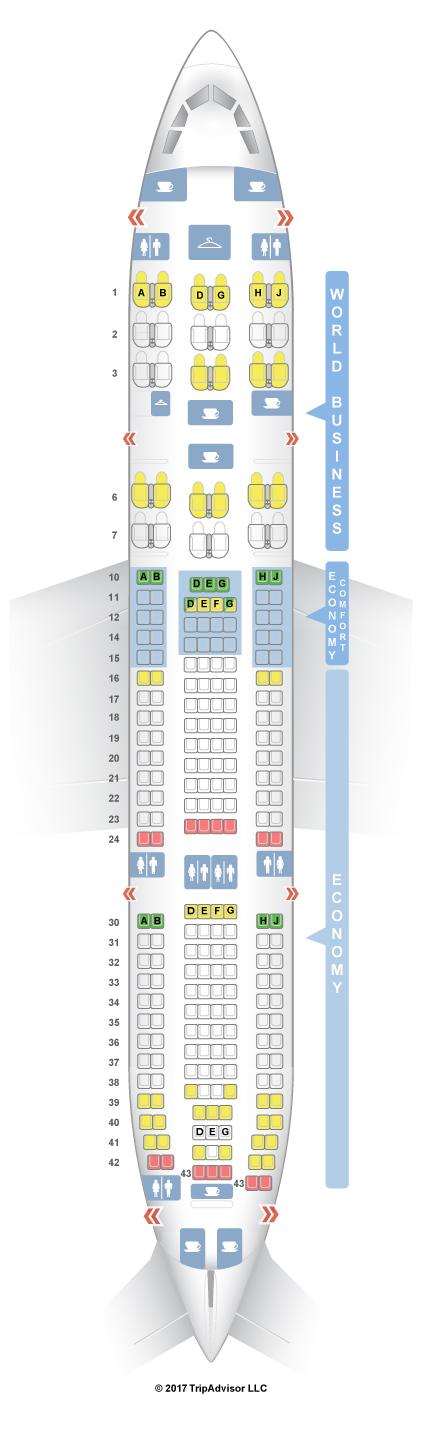 Seatguru Seat Map Klm Airbus A330 200 332