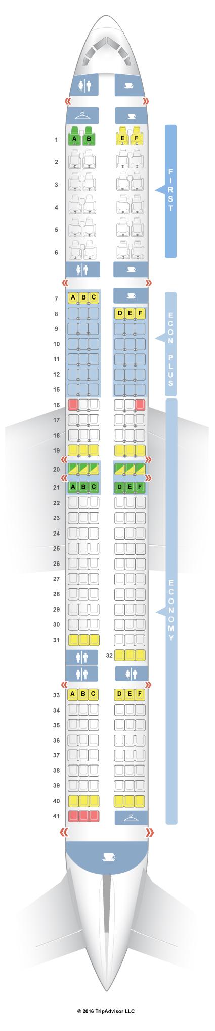 SeatGuru Seat Map United Boeing 757-300 (753) V1/V2
