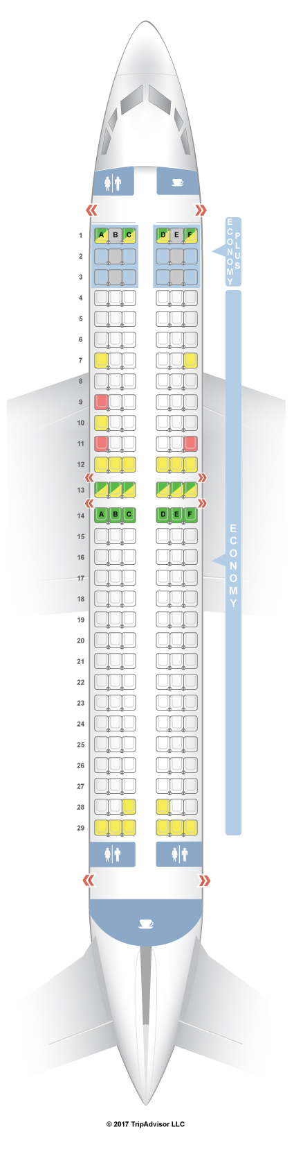Seatguru Seat Map Westjet Boeing 737 800 738