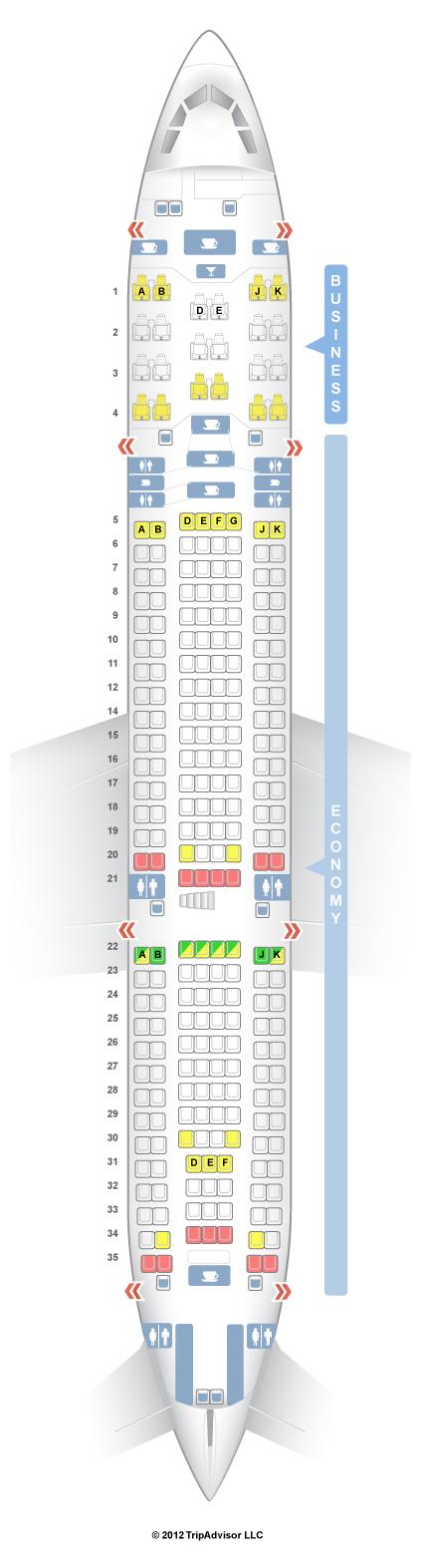 Seatguru Seat Map Turkish Airlines Airbus A330 200 332 V1