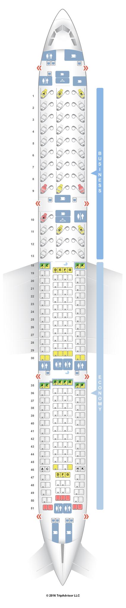 Seatguru seat map air canada airbus a330 300 333 v1 for Air canada pet in cabin