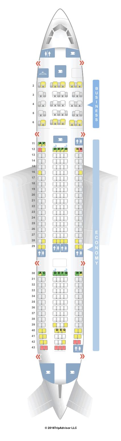 Seatguru Seat Map Aer Lingus Airbus A330 200 332 V1