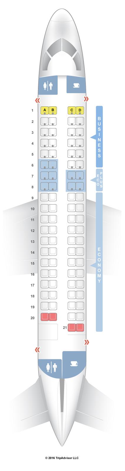 Seatguru Seat Map Lot Polish Airlines Embraer Erj 175 E75