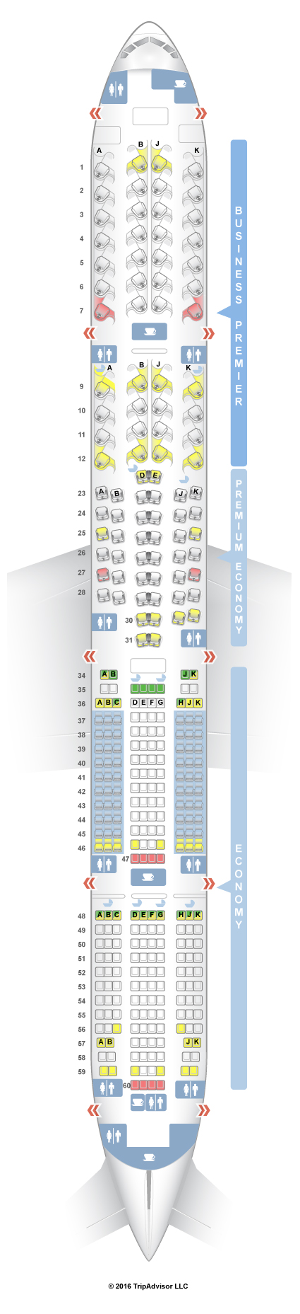SeatGuru Seat Map Air New Zealand Boeing V - Japan airlines seat map 773