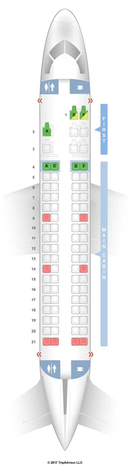 Seatguru Seat Map American Airlines Embraer Erj 175 E75 V2