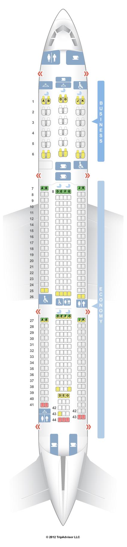 Seatguru Seat Map China Airlines Airbus A330 300 333 V1
