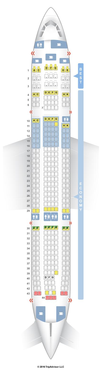 SeatGuru Seat Map Eurowings Airbus A330-200 (332)