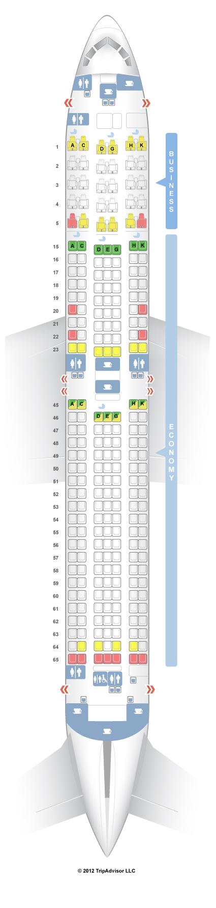 SeatGuru Seat Map Japan Airlines Boeing ER W V - Japan jetstar map