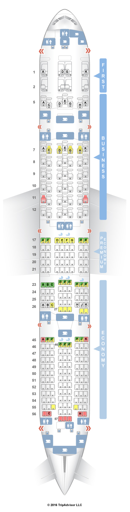 Seating Plan For American Airlines Boeing 777 300er