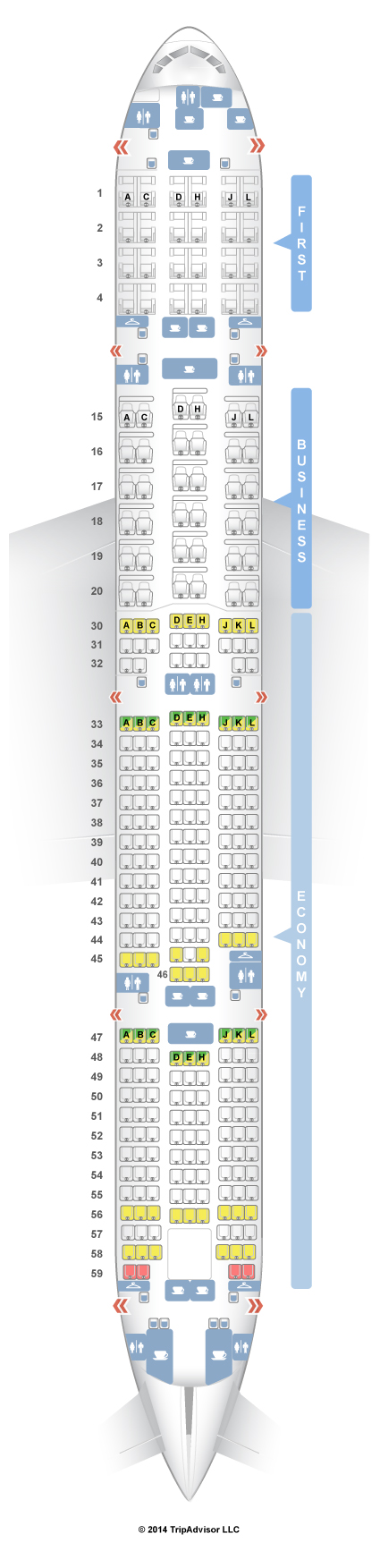 SeatGuru Seat Map Saudia Boeing Three Class V - Japan airlines seat map 773