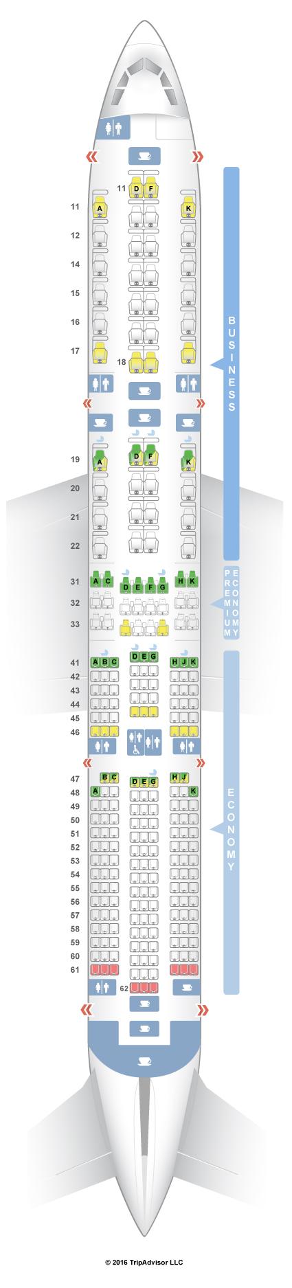 Seatguru Seat Map Singapore Airlines Airbus A350 900 359