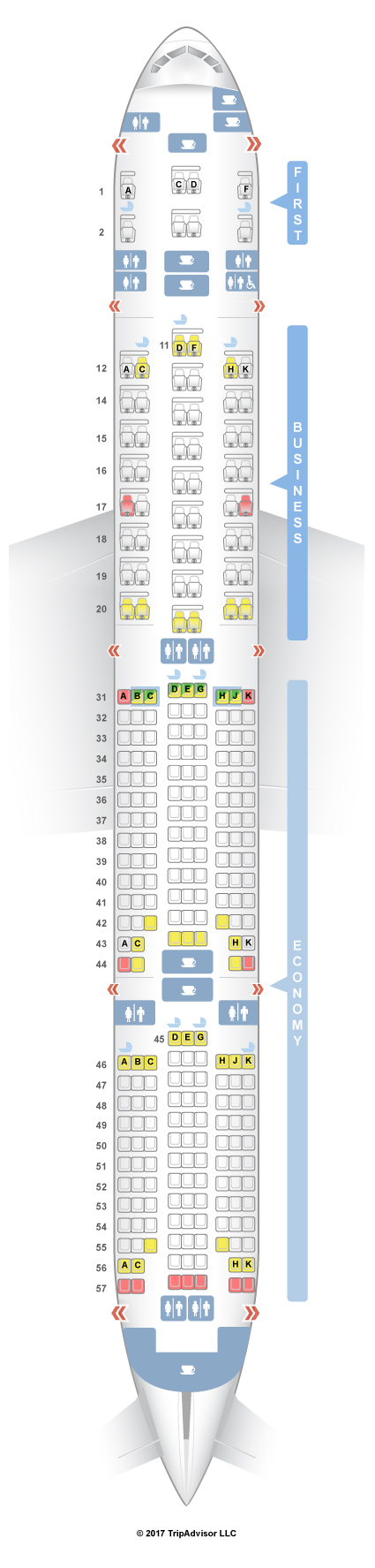 SeatGuru Seat Map Singapore Airlines Boeing - Japan airlines seat map 773