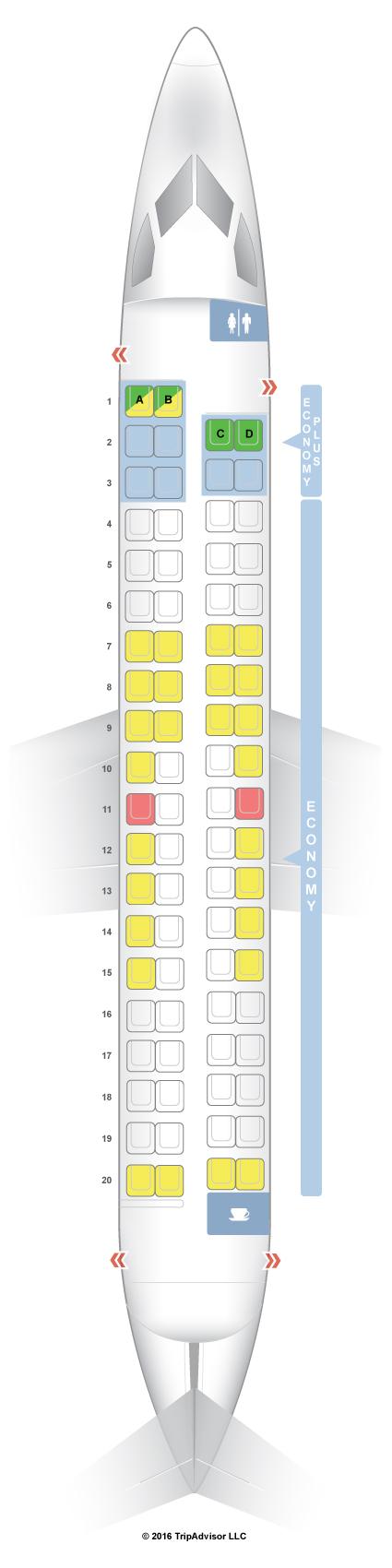 Seatguru Seat Map Westjet Bombardier Q400