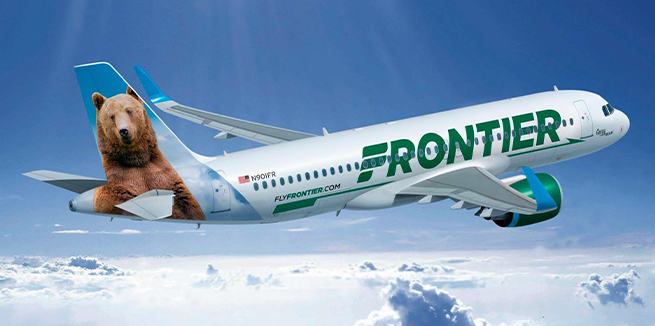 The introduction of frontier airlines and the low cost airlines at cvg