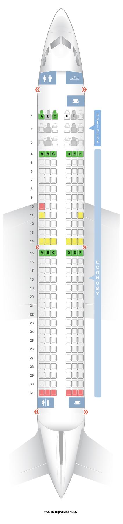 Seatguru Seat Map Air Europa Boeing 737 800 738