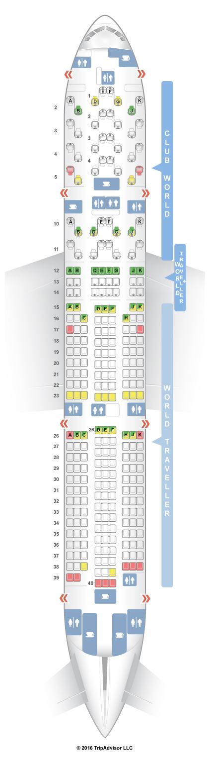 Seatguru Seat Map British Airways Boeing 777 200 772