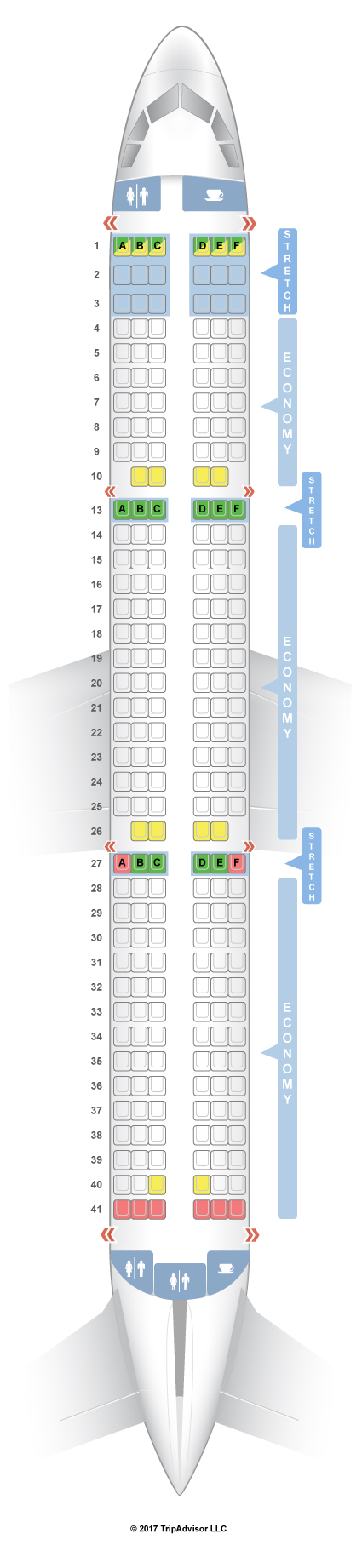 Seatguru Seat Map Frontier Airbus A321 321