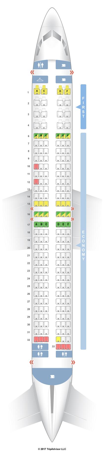 Seatguru seat map alaska airlines boeing 737 900 739 v1