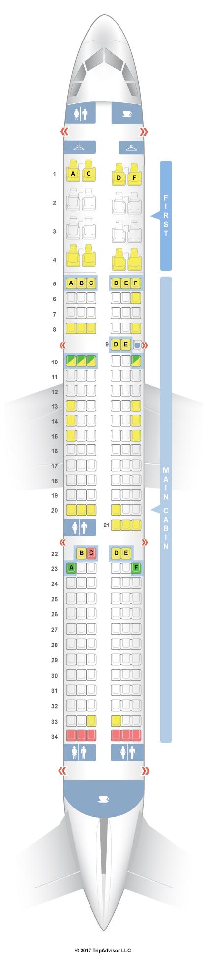 SeatGuru Seat Map American Airlines Airbus A V - Us airways seating map