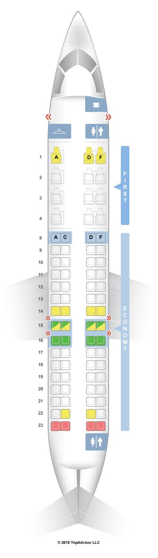 SeatGuru Seat Map American Airlines Bombardier CRJ CR V - Us airways seating map