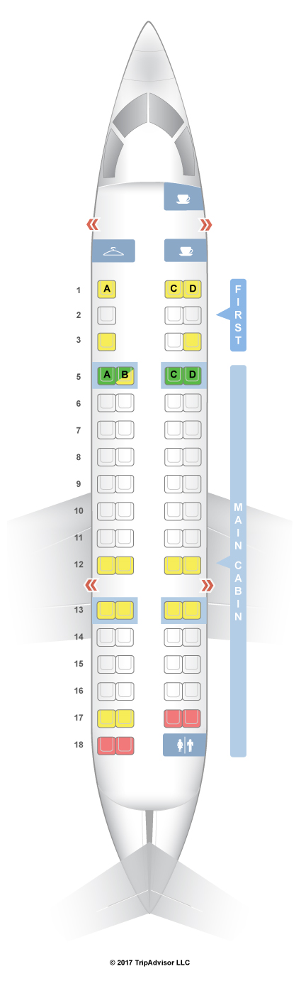 SeatGuru Seat Map American Airlines Bombardier CRJ CR V - Us airways seat map