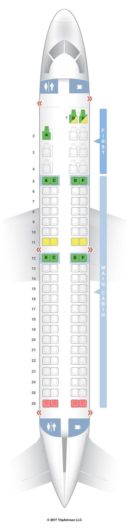 SeatGuru Seat Map American Airlines Embraer ERJ E - Us airways seating map