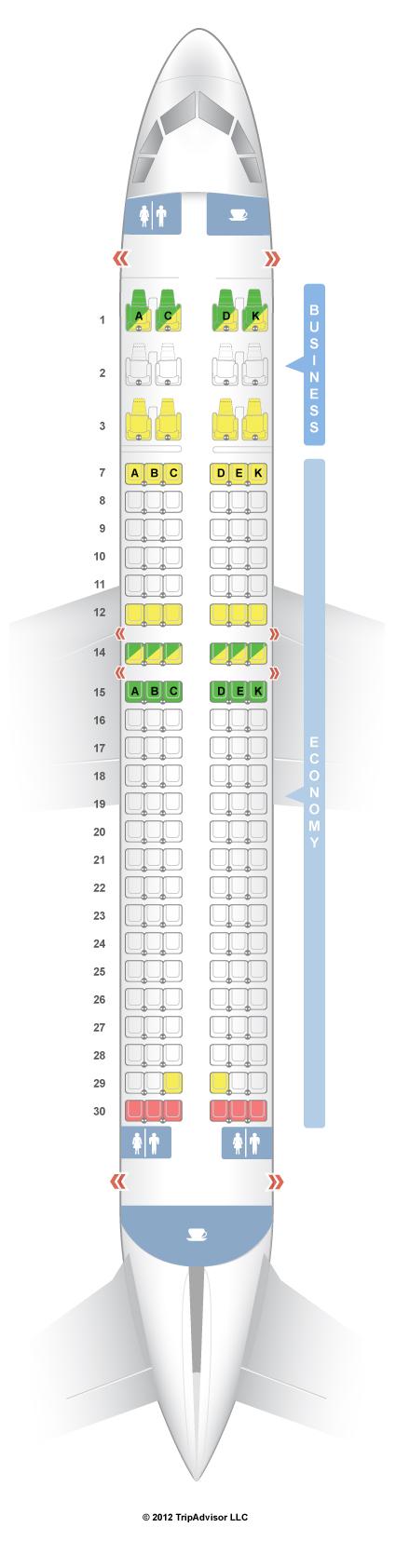 Seatguru Seat Map Avianca Airbus A320 320